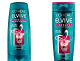 L'Oréal - Elvive Fibrology, Value Pack, set composto da un flacone da 400 ml di shampoo addensante e un flacone da 400 ml di balsamo addensante Flacone grande in bundle.