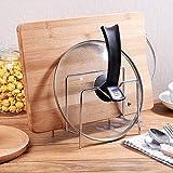 Miniinthebox blocs de cuisine avec couvercle en acier inoxydable de couteau Planche à découper Baguettes support étagère de cuisine