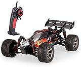 MODELTRONIC Coche RC Buggy XINLEHONG Toys 9117 Escala 1/12 eléctrico 2.4Ghz / Velocidad 30km/h / Coche Radio Control teledirigido / Incluye Todo lo Necesario Phoenix S915 (Negro-Rojo)
