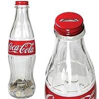 Coca Cola - 12 Inch Glass Contour Bottle Bank