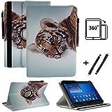 Tablet 10.1 Zoll Hülle für Jay-tech XE10D Schutzhülle Etui Case mit Touch Pen & Standfunktion - Tiger 1 360