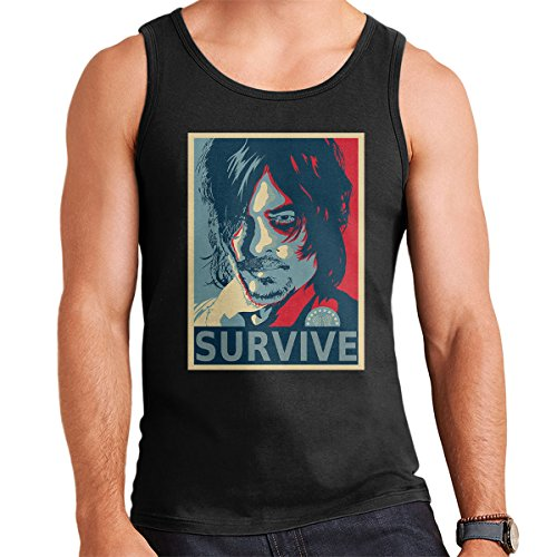 Walking Dead Daryl Dixon Hes No Ones Bitch Men's Vest Black