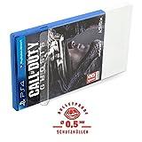 5 Klarsicht Schutzhüllen PLAYSTATION 4 [5 x 0,5MM [ARMOURED] PS4 OVP] Spiele Originalverpackung Passgenau Glasklar