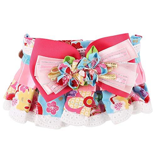 Schöne weiche Baumwolle Haustier Schal mit großen Bowknot Blume und Spitze Dekoration Kragen für Katze Hund(S) Juwel-clip