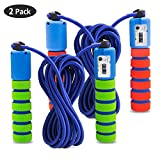 SPECOOL 2 Pack Corde à Sauter Speed Rope Compteur intégré Réglable Câble pour Crossfit, Fitness, Boxe, Gym, MMA, Adulte