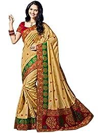 Aarti Apparels Women's New Designer Dupion Silk Sari