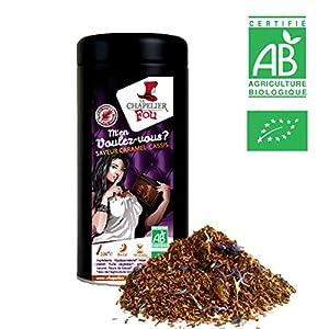 Rooibos caramel cassis bio - Boîte Vrac 100g - ? Certifié Agriculture Biologique ?