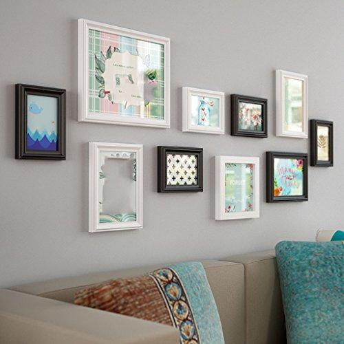 Lqqgxl parete in legno massello europeo parete attrezzata moderna minimalista per la casa cornice per foto cornice per foto cornice per foto (colore : b)