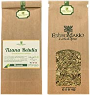 Tisana Betulla Erbecedario, Diuretica, Favorisce Drenaggio Liquidi Corporei, 1 Sacchetto 100g