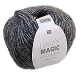 Rico Luxury Magic Mohair F. 04 - anthrazit/silber, Wolle mit Lurexfaden / Glitzer zum Stricken und Häkeln