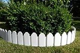Zaun 4 tlg. Rasenkanten Beeteinfassung Palisade