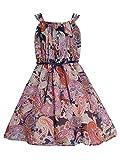 Cutecumber Girls Georgette paisley Navy Dress- (CC718D-NAVY-30) Amazon