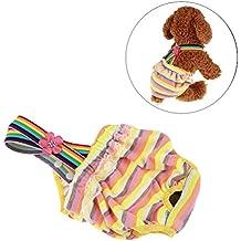 UEETEK Ropa interior del perro del animal doméstico Pañal del perro Pantalones fisiológicos higiénicos Pantalones cortos