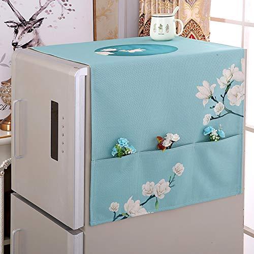 XK Japanischer Stil Kühlschrank Staubschutzhülle,waschmaschinendeckel Blumen-Print Rechteckiger Tisch Decken Mit Aufbewahrungsbeutel-c 65x170cm(26x67inch) (Floral Print Handtücher)