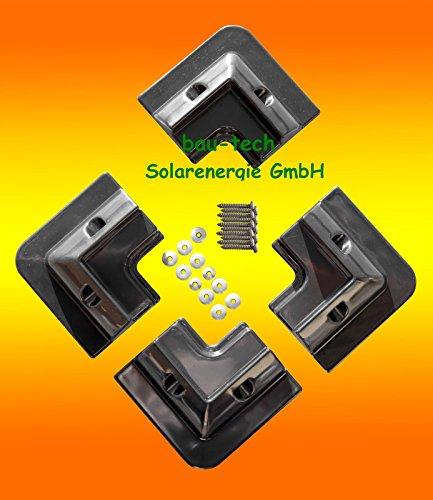 Solarmodul Halterung 4 x Eckprofil Wohnmobil Camping Solarhalterung schwarz von bau-tech Solarenergie GmbH