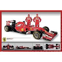 Ferrari Alonso Raikkonen y F14T Póster