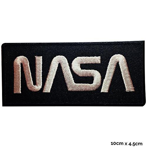 NASA weiß bestickt Patch Eisen nähen auf Astronaut Spaceman Patch oder Badge Fancy Kleid Kostüm T Shirt Tasche Jacke Badge