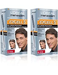 L'Oréal Men Expert Excell 5 Coloration Homme Sans Ammoniaque  Châtain Naturel 5 - Lot de 2