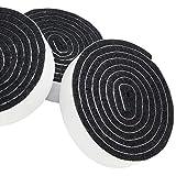 Adsamm® | 3 x selbstklebendes Filzband zum Zuschneiden | 19x1000 mm | Schwarz | rechteckig | 3.5 mm starker selbstklebender Filzzuschnitt in Top-Qualität von Adsamm®