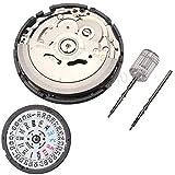 CamKpell Uhrenzubehör original automatische mechanische Bewegung NH36A ersetzen 7s36 Doppelkalender Bewegung - Schwarz