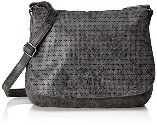 s.Oliver (Bags 39.711.94.6041, Sacs portés épaule femme, Schwarz (Black/schwarz), 3x24x27 cm (B x H T)