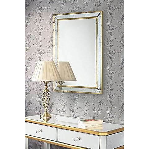 myfurniture u espejo de pared grande rectangular lujoso u gama versailles