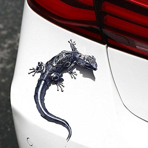 xj 3D Realistischer Gecko Auto Aufkleber Auto Reflective Terror Aufkleber -