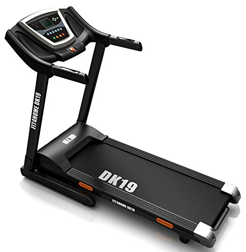 Olympic DK-19 Endeavour Auto Lubricating Motorised Folding Treadmill - Black