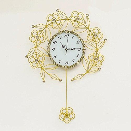 Zifferblatt Peeling (GAOLILI Modische Uhren Wohnzimmer Kreative Uhr Kunst Stumm Wanduhr Schaukel Hängen Uhr ( Farbe : B ))