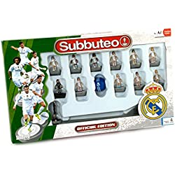 Real Madrid - Juego Subbuteo Team Box, new edition, color blanco (Eleven Force 81045)