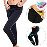 2017 New Ankle-Length Thermo Pants Neoprene Sweat Sauna Suit Yoga Leggings for Women Ladies Weight Loss Burn Fat