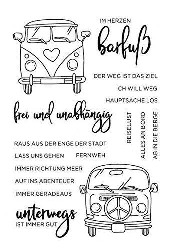 Auto/deutsche Wörter transparent klarer Silikonstempel/Siegel für DIY Scrapbooking/Fotoalbum dekorativer klarer Stempel W1426