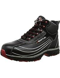 """'Cofra zapatos de seguridad S3""""New Phantom workflying Serie de alta deportivo zapato de trabajo con tapa de acero con suela de goma piel negro pedalada Protección"""