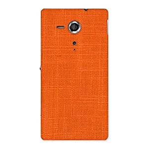 Special Orange Texture Squary Back Case Cover for Sony Xperia SP