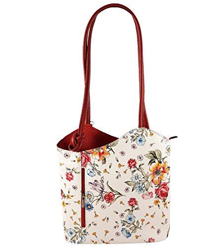 Freyday 2 in 1 Handtasche Rucksack Designer Luxus Henkeltasche aus Echtleder in versch. Designs (Kroko Dunkelblau)
