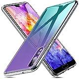 ESR Huawei P20 Pro Hülle, 9H Gehärtetes Glas Rückendeckel Handyhülle [Imitiert die Glasrückseite von Huawei P20P] [Kratzfest] + Weicher Silikon Stoßstange [Stoßdämpfung] Schützhülle für P20Pro