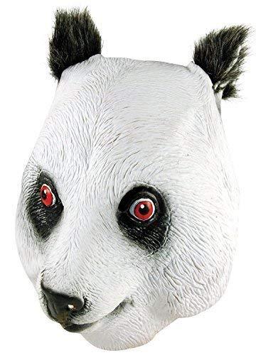 Kostüm Panda Gesicht - Erwachsene Damen Herren Rubber Das Gesicht Bedeckend Maske Animal Halloween Kostüm Kleid Outfit Zubehör - Panda
