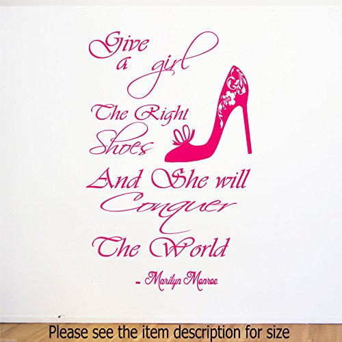 marilyn-monroe-citation-give-girls-right-shoes-she-will-conquer-stickers-muraux-stickers-muraux-en-v