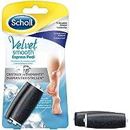 Scholl - Rouleaux Velvet Smooth aux Cristaux de Diamants - 1 x Grain Extra Exfoliant + 1 x Sensation douceur