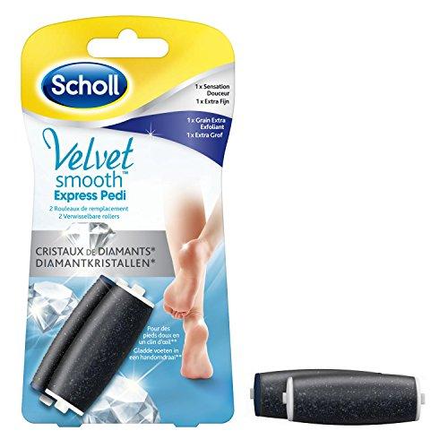Scholl Velvet Smooth Rolls with Diamonds Crystals – 1 x Extra Softening Exfoliator + 1 Soft Feeling