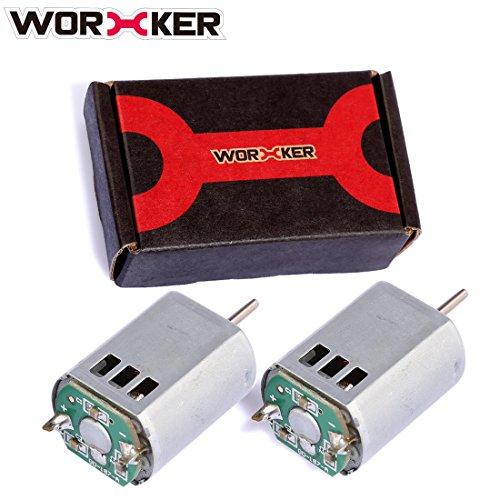 YUKIKO Worker Geändert 132 Motor Set Spielzeug Zubehör für Nerf STF / CS-18 / Rebelle Schnelle Red Blaster / HyperFire / Modulus Regler / Modul ECS-10 (D Welle) (0.1 Ps Motor)