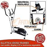 OFFERTA CYCLETTE 502 ELLITTICA ELLIPTICAL BIKE CROSS TRAINER MAGNETICA CARDIO FITNESS NERO