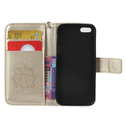 iPhone 5 5S SE Wallet Case iPhone 5 5S SE Flip Hülle Laoke Eule Blumen Muster Handyhülle Schutzhülle PU Leder Case Skin Brieftasche Ledertasche Tasche im Bookstyle in +Staubstecker (11) 7