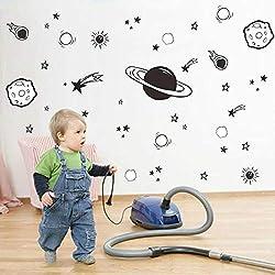 Raum Sonne Sterne Hause Wandaufkleber Cartoon Meteorit Kinderzimmer TV Sofa Hintergrund Aufkleber DIY Familie Kindergartendekoration
