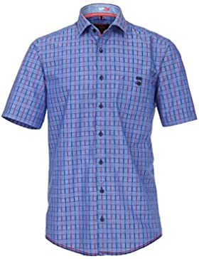 CasaModa - Herren Freizeit Hemd kurzarm blau rot kariert
