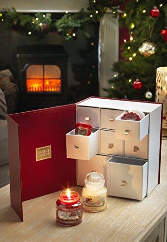 YANKEE CANDLE Coffret Cadeau découverte de Bougies parfumées pour Noël, Blanc, 11 x 20.5 x 23 cm