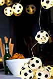 Plaights Fußball Lampion Lichterkette mit 20 LED's, warmweiß