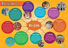 La religione è... | Poster dell'educazione religiosa | Carta lucida misura 850mm x 594mm (A1) | Tabelle degli studi religiosi per l'aula | Schede educative by Daydream Education