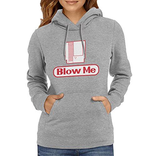 TEXLAB - Blow Me - Damen Kapuzenpullover, Größe XL, grau (Kostüme Koopa)