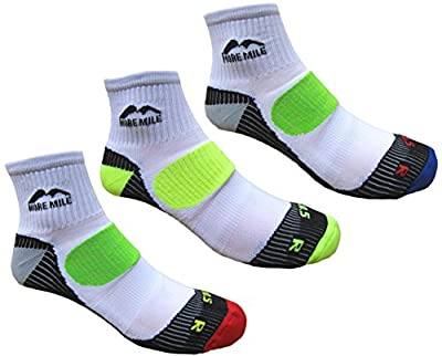More Mile Mens 3 Pair Pack London Cushioned Running Socks